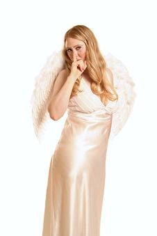 Free Be Quiet Said Goddess Angel Stock Photo - 1966330