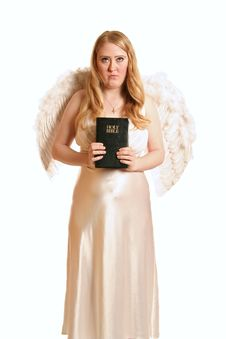 Free Goddess Angel Holding Bible Royalty Free Stock Photos - 1966448