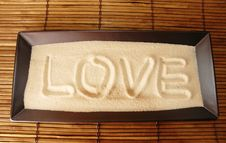 Free Love Written On Sand Royalty Free Stock Image - 1966686