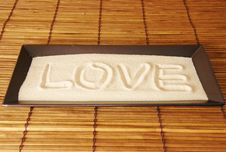 Free Love Written On Sand Royalty Free Stock Photos - 1966688