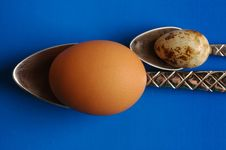 Free Eggs And Spoons Royalty Free Stock Photos - 1968258