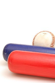 Free Two Bats One Ball Vertical Stock Photography - 1968462