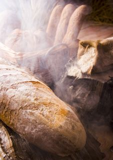 Free Bread Mix In Smoke Royalty Free Stock Photography - 1968917