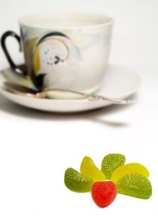 Free Cup And Sweets2 Stock Image - 1969031