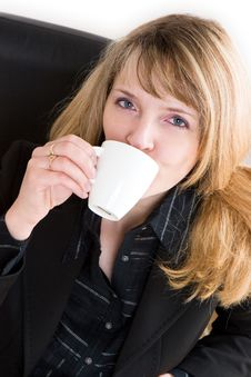 Free A Business Woman Drinking Coffee Stock Photos - 1969413