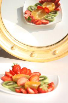Abstract - Fruits Mirror Stock Photos