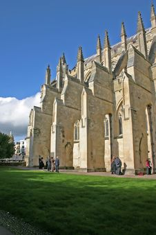 Exeter Cathedral In Summer Royalty Free Stock Photography