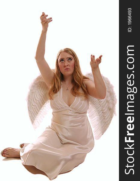 Goddess Angel Offer Gift To God