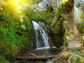 Free Waterfall In A Mountain Stock Images - 19606254