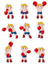 Free Cartoon Boxer Icon Set Royalty Free Stock Photography - 19606367