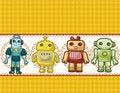 Free Cartoon Robot Card Stock Image - 19606381