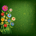 Free Abstract Floral Illustration On Grunge Background Royalty Free Stock Images - 19606559