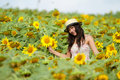 Free Happy Girl Between Sunflower Royalty Free Stock Photography - 19607267