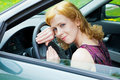 Free A Woman Behind The Wheel Stock Images - 19608524