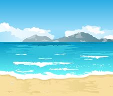 Free Beautiful Summer Background With Beach Stock Image - 19600361