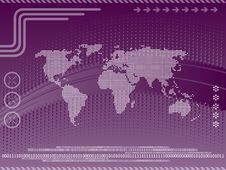 Free Vector Illustration And Map Of The World Stock Images - 19600454