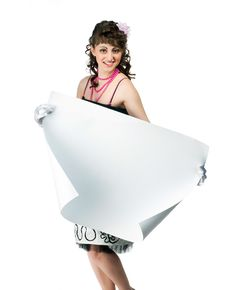 Free Brunette With A Sheet Of Paper Royalty Free Stock Image - 19600496