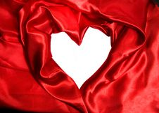 Red Satin Fabric Stock Image