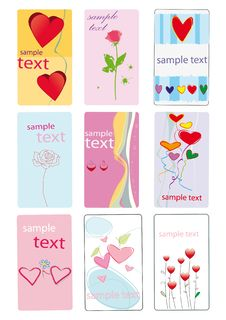 Greeting Cards With Heart Royalty Free Stock Photos