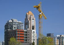 Free Crane At Construction Site Stock Image - 19601511