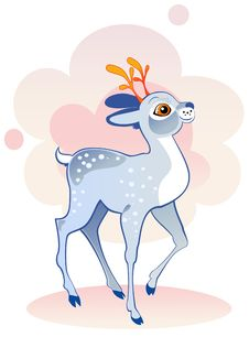Free Blue Deer Royalty Free Stock Photos - 19602348