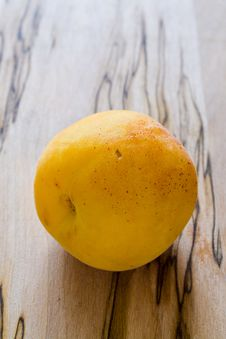 Apricot On Wood Table Royalty Free Stock Images