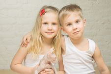 Free Portrait Of Beautiful Children At Home Stock Photography - 19602522