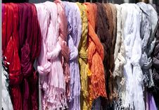 Color Fabric Stock Photography