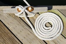 Rope On The Dock Royalty Free Stock Image