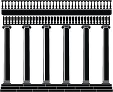 Free Portico (Colonnade) With Balustrade Royalty Free Stock Photo - 19604475