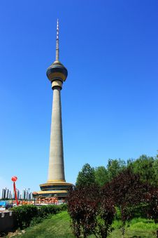 Cityscape Of CCTV Tower,beijing Stock Photos