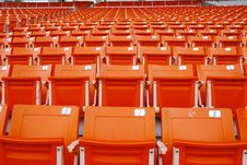 Red Stand In Stadium Royalty Free Stock Image