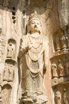 Stone Statue Of Buddha Stock Photo