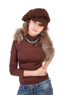 Free Beautiful Woman In Winter Hat Royalty Free Stock Photography - 19605787