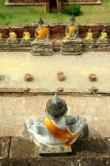 Free Buddha Statue Temple Thai Style Stock Photography - 19605852