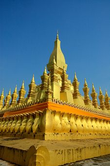 Free Lao Style Temple At That Luang Stock Photography - 19605922