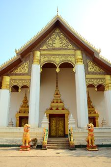 Free Lao Style Temple At That Luang Stock Photography - 19605932