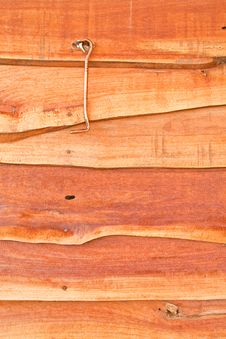 Metal Hook On The Wooden Wall Royalty Free Stock Photo