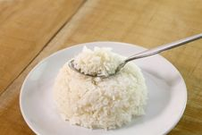Free Rice In Spoon Stock Photo - 19606120