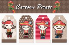 Free Cartoon Pirate Card Royalty Free Stock Photography - 19606377