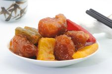 Free Cantonese Sweet And Sour Pork Royalty Free Stock Photos - 19606438