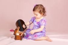 Free Girl Playing With Her Toys Stock Photography - 19606462