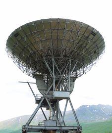 Free Radio Telescope In Norwegian Mountains. Stock Photos - 19606703