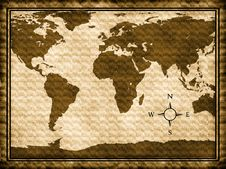 Free World Map Royalty Free Stock Photo - 19606885