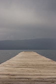 Ohrid Lake Stock Photo