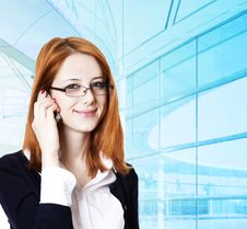 Business Women Calling By Phone. Royalty Free Stock Photography