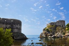 Fort At Town Dubrovnik In Croatia Royalty Free Stock Photo