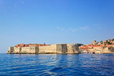Fort At Town Dubrovnik In Croatia Royalty Free Stock Photography