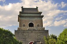 China Beijing Central Axis-Drum Tower Royalty Free Stock Photos