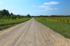 Free Rural Road On Sunny Day. Stock Photos - 19609673